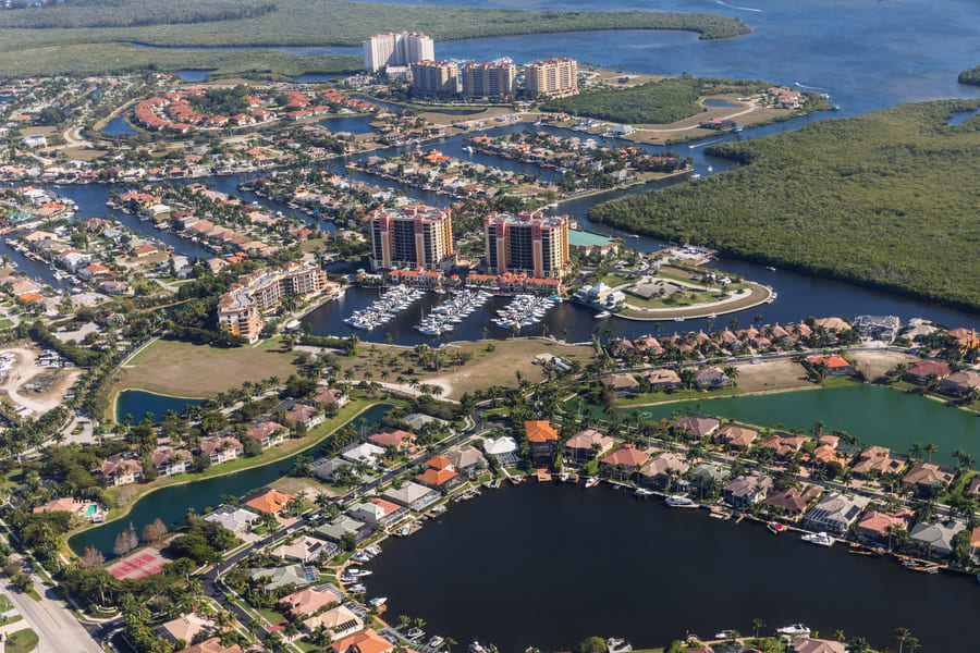 cape coral Florida view over the city