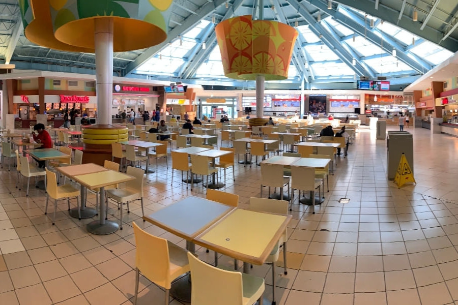 Sawgrass Mills Food Court in the Outlet Mall in Miami Fort Lauderdale