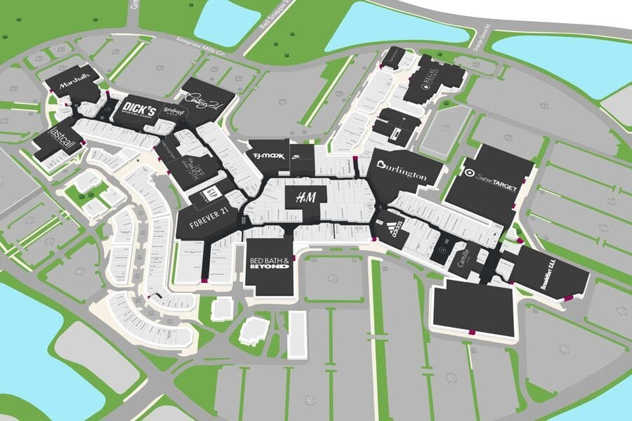 Sawgrass Mills Mall Map Outlet in Miami Fort Lauderdale