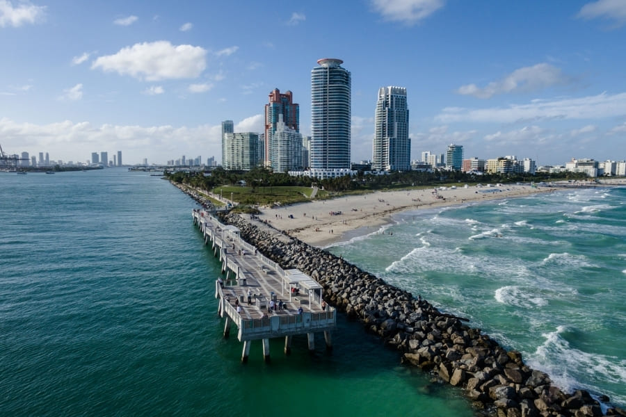 South Pointe Park Pier in Miami Florida
