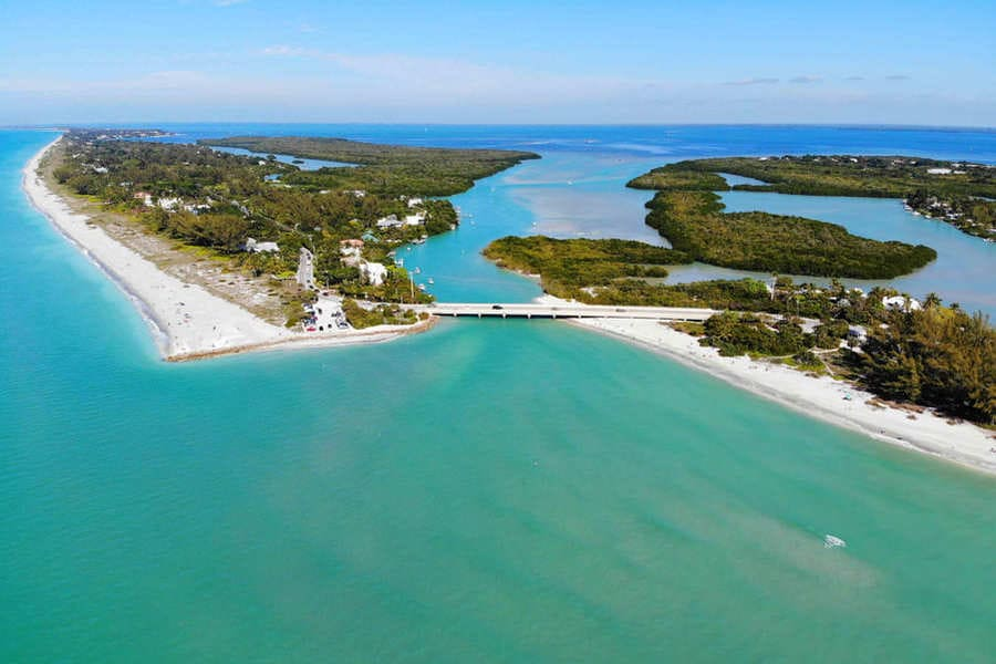 Captiva Island and Sanibel Island Bridge Florida